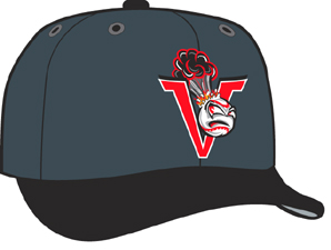 Salem Keizer Volcanoes  -  New Era 5950 Performance Fabric Ftd. Minor League Low Crown Baseball Cap  Home