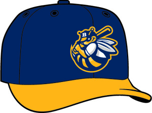 Burlington Bees  -  New Era 5950 Performance Fabric Ftd. Minor League Low Crown Baseball Cap  Home