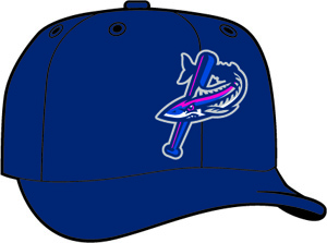 Pensacola Blue Wahoos  -  New Era 5950 Performance Fabric Ftd. Minor League Low Crown Baseball Cap  Home