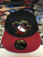 Quad City Bandits  -  New Era 5950 Performance Fabric Ftd. Minor League Low Crown Baseball Cap  Home