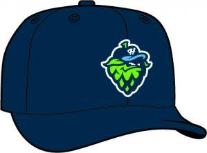 Hillsboro Hopps   -  New Era 5950 Performance Fabric Ftd. Minor League Low Crown Baseball Cap  Home