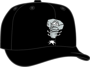 Lansing Lugnuts  -  New Era 5950 Performance Fabric Ftd. Minor League Low Crown Baseball Cap  Home