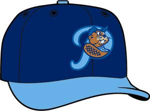 Portland Beavers  -  New Era 5950 Performance Fabric Ftd. Minor League Low Crown Baseball Cap  Road
