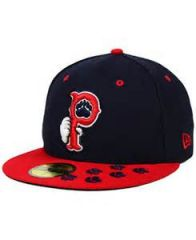 Pawtucket Red Sox  -  New Era 5950 Performance Fabric Ftd. Minor League Low Crown Baseball Cap  Road