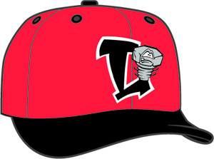 Lansing Lugnuts  -  New Era 5950 Performance Fabric Ftd. Minor League Low Crown Baseball Cap  Road