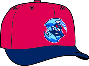 Lakewood Blueclaws  -  New Era 5950 Performance Fabric Ftd. Minor League Low Crown Baseball Cap  Road