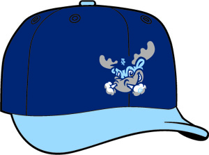 Wilmington Blue Rocks  -  New Era 5950 Performance Fabric Ftd. Minor League Low Crown Baseball Cap  Alt.
