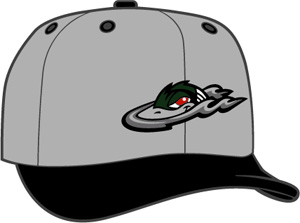 Great Lake Loons  -  New Era 5950 Performance Fabric Ftd. Minor League Low Crown Baseball Cap  Alt.