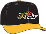 Bowling Green Hot Rods  -  New Era 5950 Performance Fabric Ftd. Minor League Low Crown Baseball Cap  Home