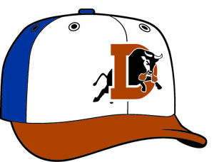 Durham Bulls  -  New Era 5950 Performance Fabric Ftd. Minor League Low Crown Baseball Cap  Alt.1